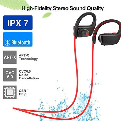 Flame Bluetooth Headphones Waterproof IPX7, Wireless Earbuds