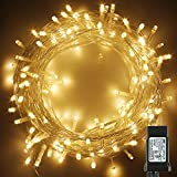PMS 173Ft 500 LED Christmas Lights, Clear Cable LED Fairy String Lights with 8 Light Modes, Low Voltage Output Ideal for Christmas Tree Home Garden Party Wedding Indoor and Outdoor (Warm White)