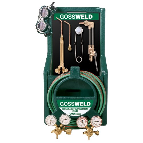 Goss KA-425-M12P Welding, Brazing and Cutting Torch Kit with Stand for