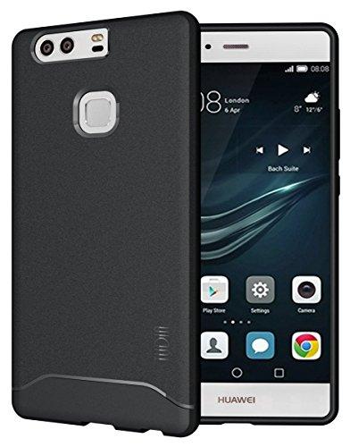 Huawei P9 Plus Case, TUDIA Full-Matte ARCH TPU Bumper Protective Case for Huawei P9 Plus (Black)