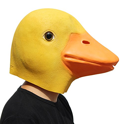 PartyCostume Deluxe Novelty Halloween Costume Party Latex Animal Head Mask (Duck Head Costume)
