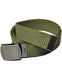 KASAJIMA:01-1 Men's 32mm Cotton Web Belt with Blacknickeling Buckle