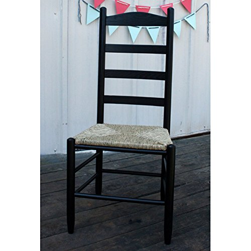 42 In. Woven Seat Ladderback Chair (Black) Review