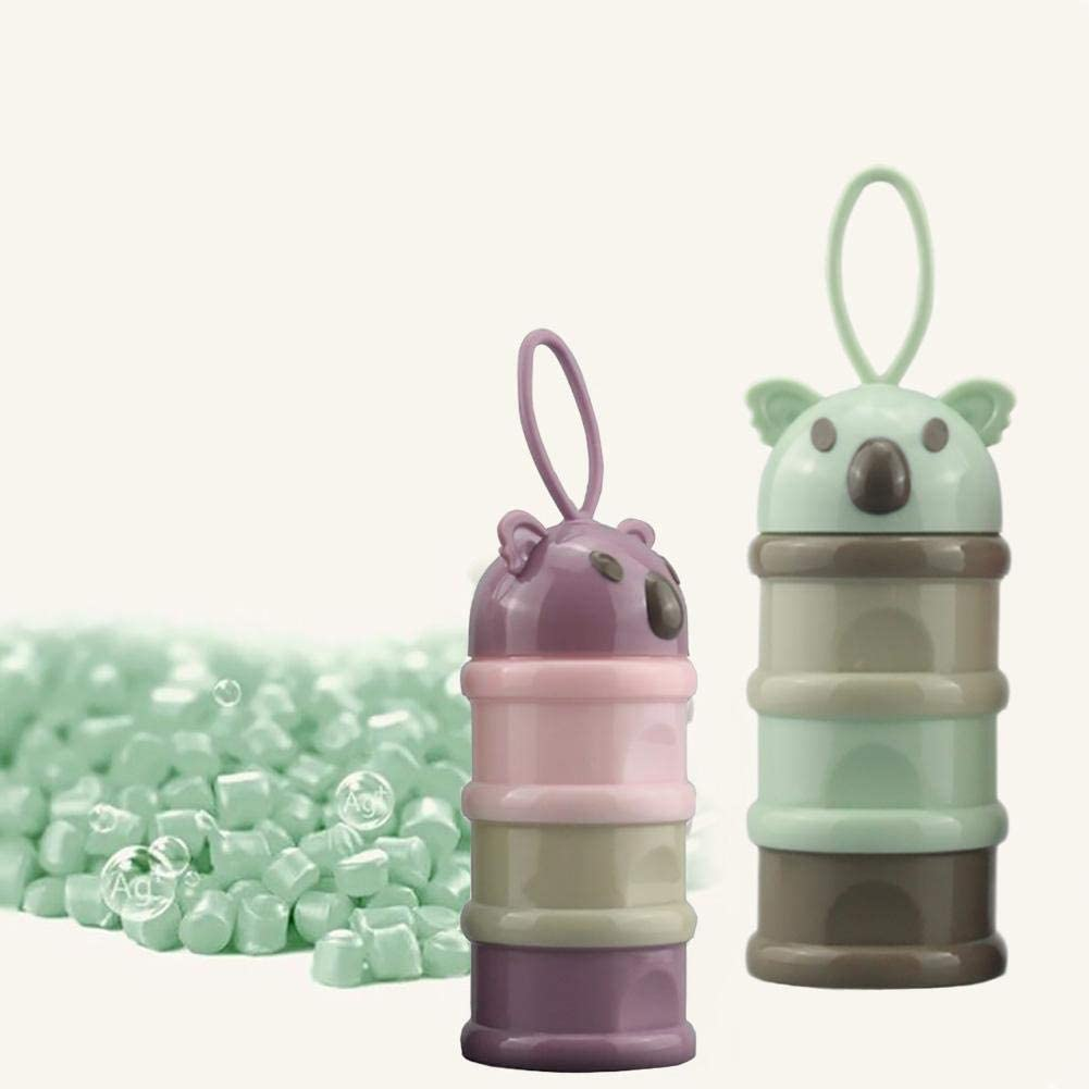 Recipiente dispensador de leche en polvo para beb/é F/órmula contenedor