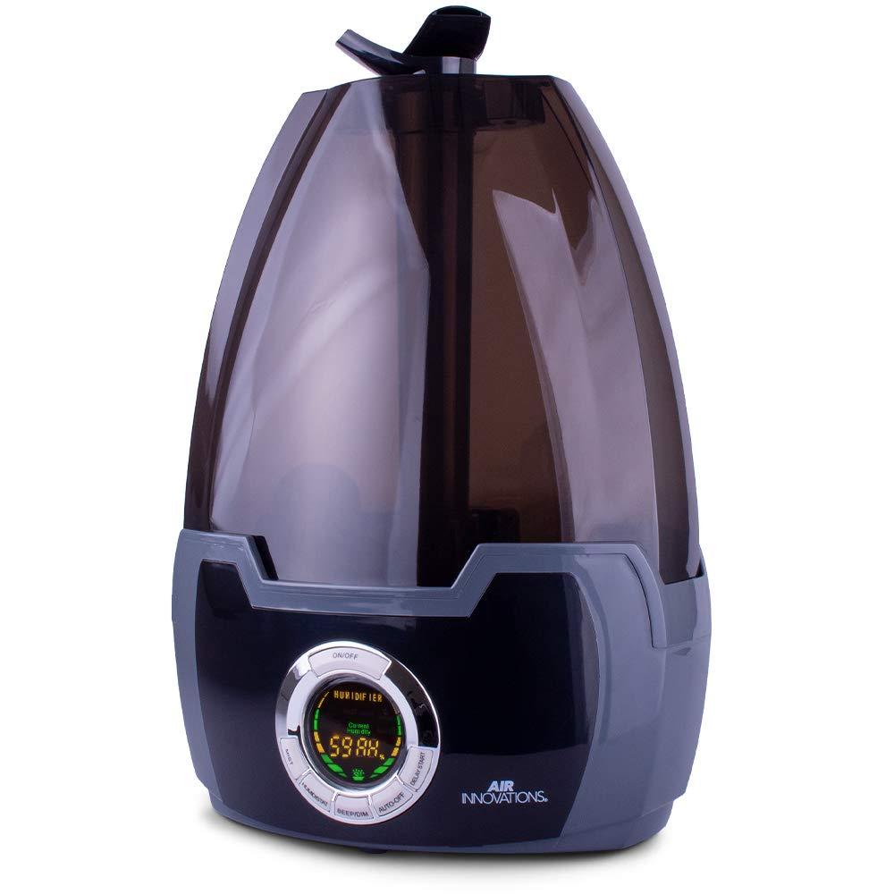 Air Innovations MH-602 MH-602-BLACK 1.6 Gal. Cool Mist Digital Humidifier for Large Rooms – Up to 500 sq. ft-Black