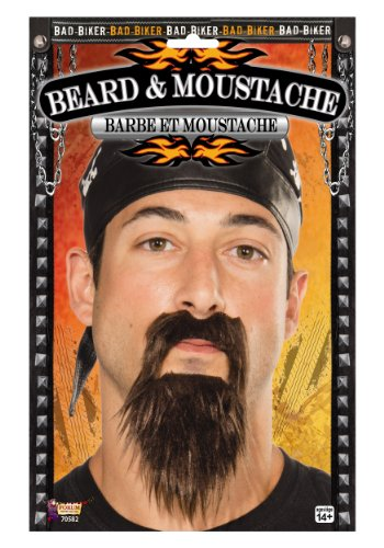 Forum Novelties Biker Beard and Moustache (Black) 6