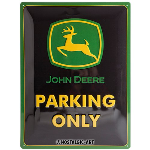 John Deere Parking Sign - John Deere Parking Only large embossed steel sign
