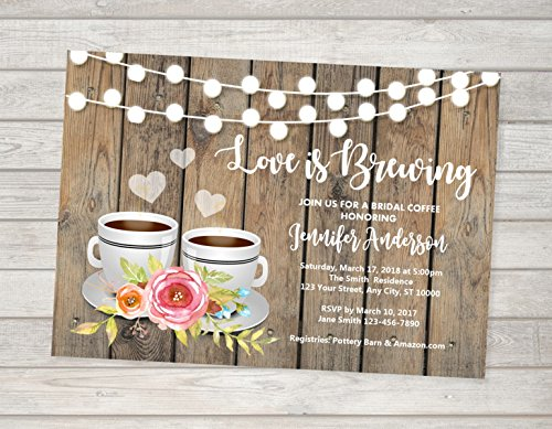 bridal tea invitation bridal coffee invitations tea coffee bridal shower invitation love is brewing bridal shower invitation