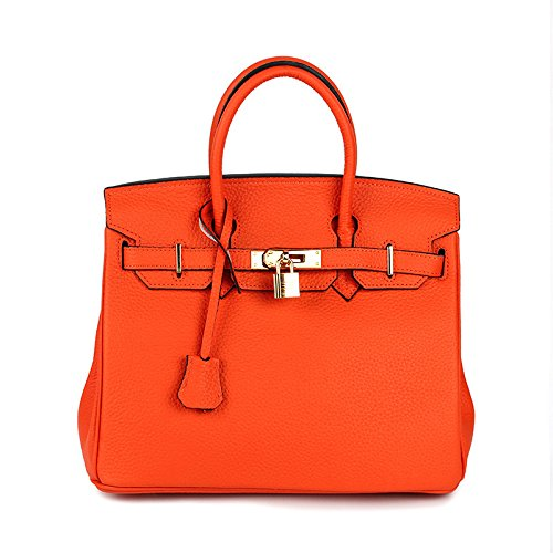 à Lock Designer Sacs Femmes luxe Crossbody Sacs Sacs Faux Tote Pour Hand de Femelle main Bag Femmes Dames Top Box AASSDDFF Véritable orange30x17x23cm wEIqpvE