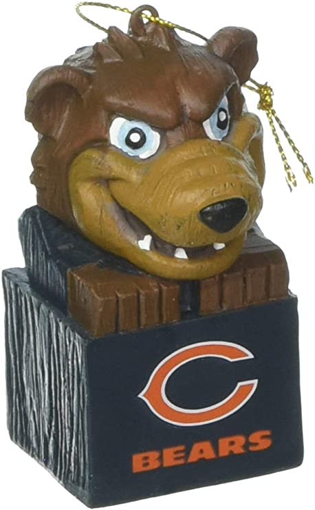 Team Sports America 3OT3805MAS Chicago Bears Mascot Ornament