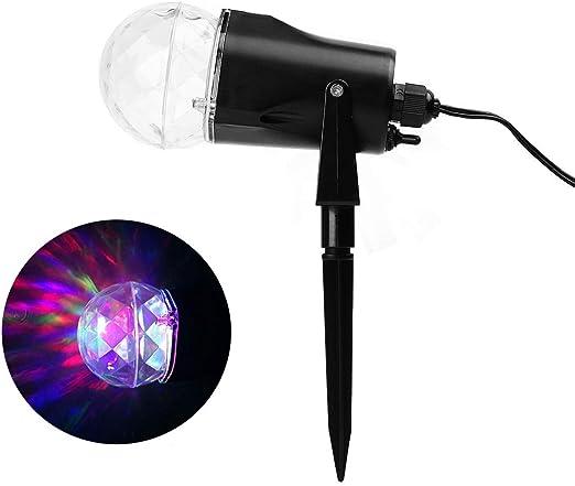 Salcar Navidad Lámpara de Proyector de 2 modos, RGB & Blanco ...