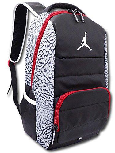 944658b36d67 Amazon | (Jordan) ジョーダン All World エレファント柄 リュック バッグ (黒灰赤) [並行輸入品] |  スポーツ・フィットネスバッグ