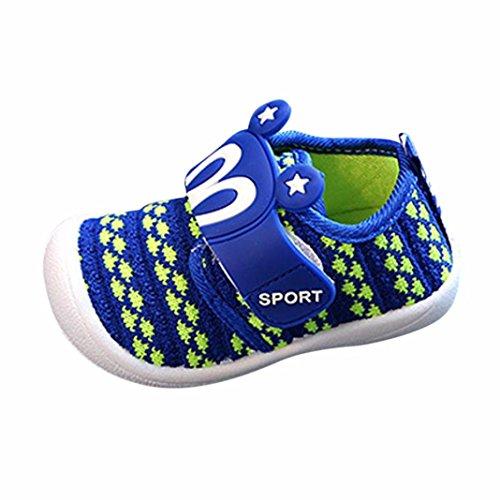 FEITONG Toddler Children Kids Baby Girls Boys Cartoon Rabbit Ear Stars Squeaky Single Shoes Sneaker
