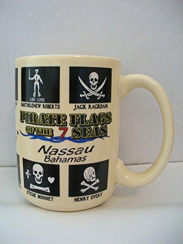 Pirate Flags of the Seven Seas - Nassau, Bahamas Mug - 13 Ounce