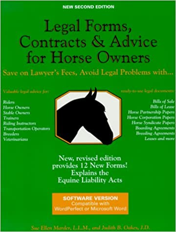 Book Legal Forms, Contracts, and Advice for Horse Owners