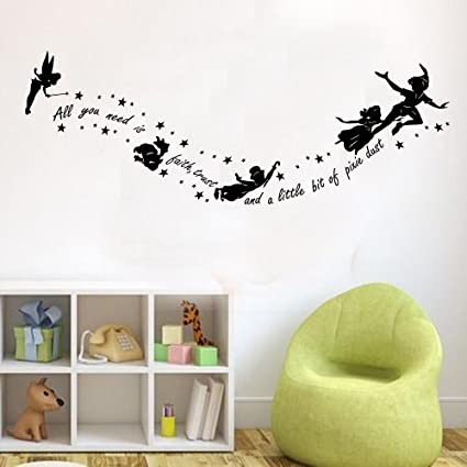 Peter Pan All You Need Is Pixy Dust bambini la pared del vinilo ...