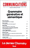 img - for COMMUNICATIONS - Grammaire generative et semantique - #40 book / textbook / text book