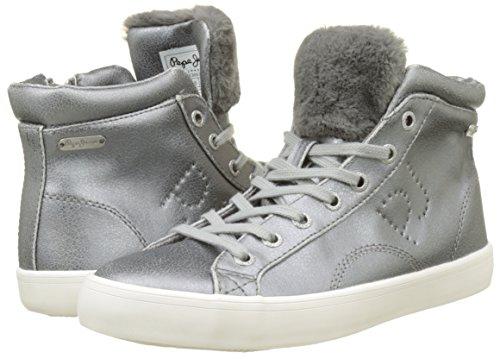 Sally A Clinton Donna Jeans Argento Collo Sneaker Pepe silver Alto OvUExqv1