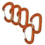 Fusion Climb Contigua Wire Gate Modified D Shape Carabiner Orange 5-Pack