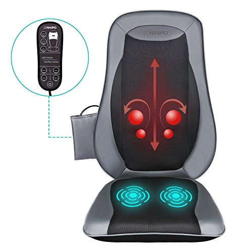 Naipo Back Massage Seat Cushion with Heat for Chair, Deep Kneading Rolling and Vibrating - Full Back...
