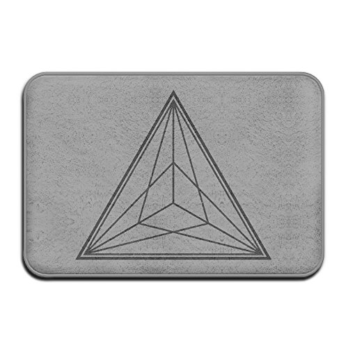 Art Abstract Triangle Streak Funny Welcome Mat Doormat Inserts Set Doormat Funny Outdoor (Streak Vintage Fashion)