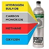 Multi Calibration Gas Mix: 25 PPM Hydrogen Sulfide, 100 PPM Carbon Monoxide, 2.5% (50% LEL) Methane, 18% Oxygen, Balance Nitrogen (29 Liter)