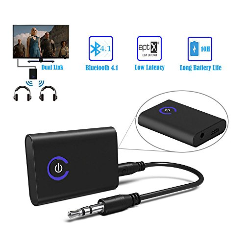 eranton APTX Low Latency 3 5mm/RCA Bluetooth V4 1 Audio