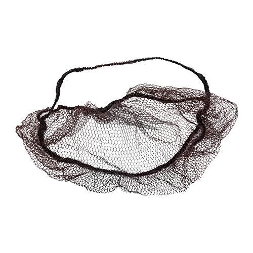 Bread Net - Royal Dark Brown Nylon Honeycomb Beard Protector, Latex Free, Package of 100