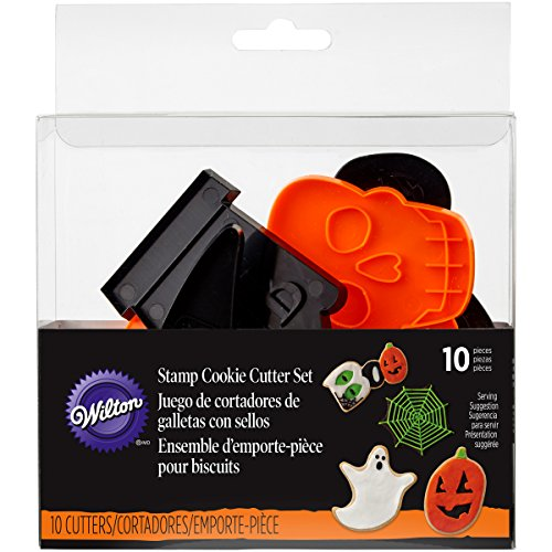 Wilton Halloween Shapes Cookie Cutter Set, 10-Piece ()