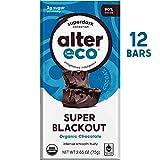 Alter Eco   Super Blackout Bar   90% Pure Dark Cocoa, Fair Trade, Organic, Non-GMO, Gluten Free Dark Chocolate Bar, 12 Bars