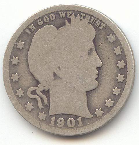 1901 O Barber Quarter Good