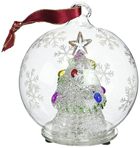StealStreet SS-UG-HD-0374 Christmas Light Up Glass Ornament Ball, Decorated X-Mas Tree