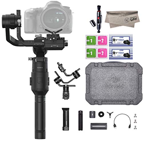 2019 DJI Ronin-S Essentials Kit 3-Axis Gimbal Stabilizer for Mirrorless and DSLR Cameras, Tripod, Gimbal Hook and Loop Strap, 1 Year Limited Warranty, Black(CP.RN.00000033.01) (Best Mirrorless Camera 2019 Under 1000)