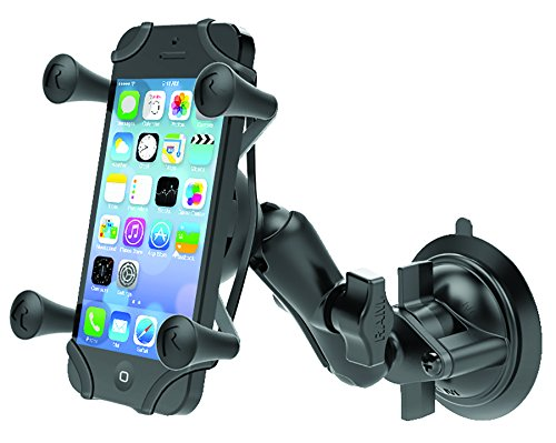 - Ram Mount Twist Lock Suction Cup Mount with Universal X-Grip Cell Phone Holder, Black, RAM-B-166-UN7U