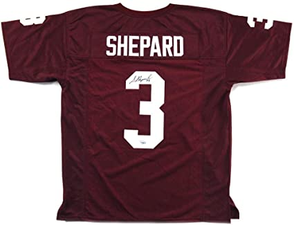 Signed Sterling Shepard Jersey - Custom Maroon - Autographed College Jerseys 962148868