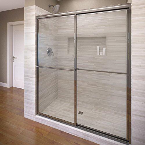 Basco Deluxe Framed Sliding Shower Door, Fits 44-45.75 in...
