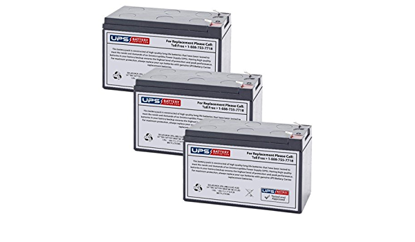 Battery Set Replacement for Tripp Lite SMART1500RM2U by UPSBatteryCenter 12V 7Ah F2 3