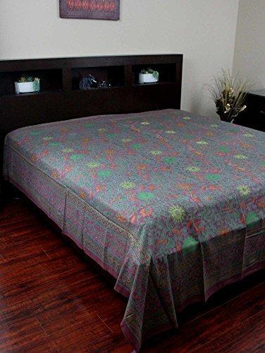 Indian Bedspread ? Cotton Sunflower Print