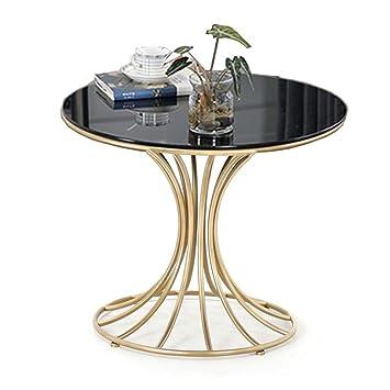 Nan Table A Manger Ronde Verre Trempe Petite Table Basse Moderne