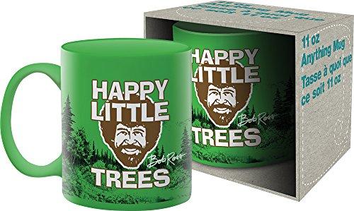 Aquarius Bob Ross Happy Trees 11 Oz Boxed Ceramic Mug,Multicolor,8″