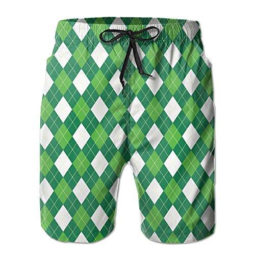 (Breen Golf Stytle Men's Swim Trunks Quick Dry Casual Swim Short)