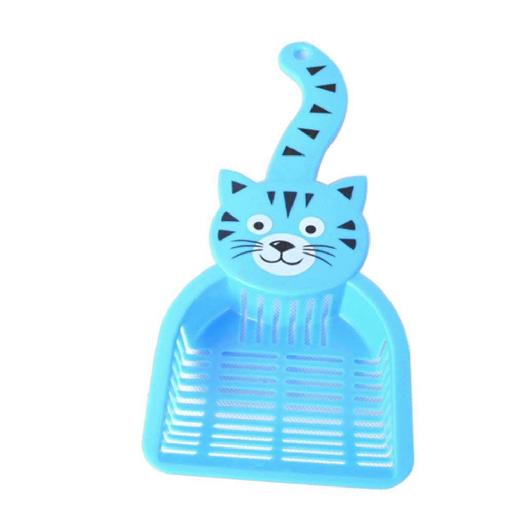 SoundsBeauty Lovely Plastic Litter Scoop Pet Cat Sand Waste Scooper Shovel Cleaning Tool - Blue