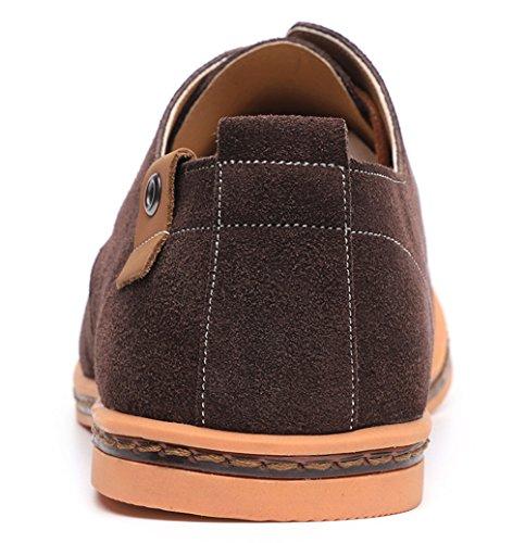 Dadawen Men's Brown Leather Oxford Shoe - 11 D(M) US by DADAWEN (Image #6)