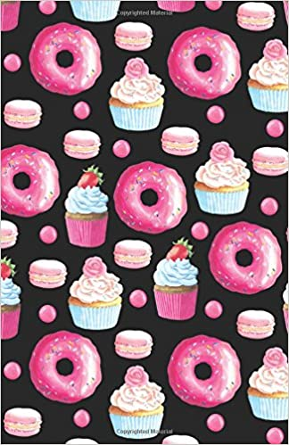 journal notebook doughnuts cupcakes and macarons pattern blank journal to write in unlined for journaling writing planning and doodling for to carry size plain journal volume 27