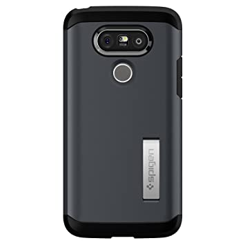 spigen Funda LG G5, ç [Tough Armor] Heavy Duty [Metal Slate] Extreme Protection/Rugged but Slim Dual Layer Protective Cover Carcasa para LG G5 (2016) ...