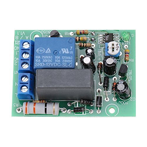 AC 220V Input/Output Timer Delay Switch Module Adjustable Timing Turn Off Board (0-10 Seconds)