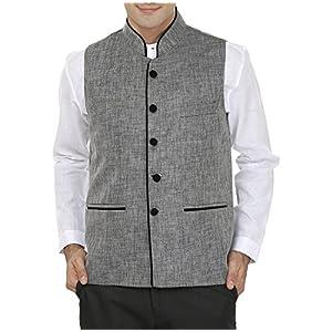WINTAGE Men's Rayon Bandhgala Festive Nehru Jacket Waistcoat – 2 Colors
