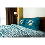 4pc NFL Miami Dolphins Full Bed Sheet Set Football