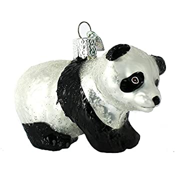 Old World Christmas Panda Cub Glass Blown Ornament