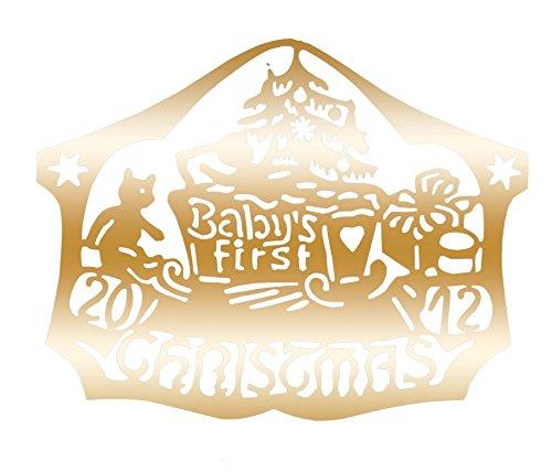 Biedermann & Sons D2012B Brass Commemorative Baby's First Christmas Ornament